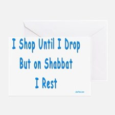I Dont Shop on Shabbat Greeting Card