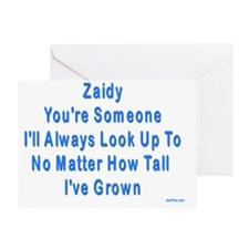 Look up to Zaidy Greeting Card