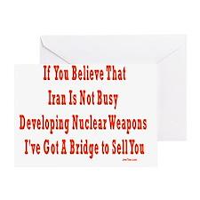 iran nuclear flat Greeting Card