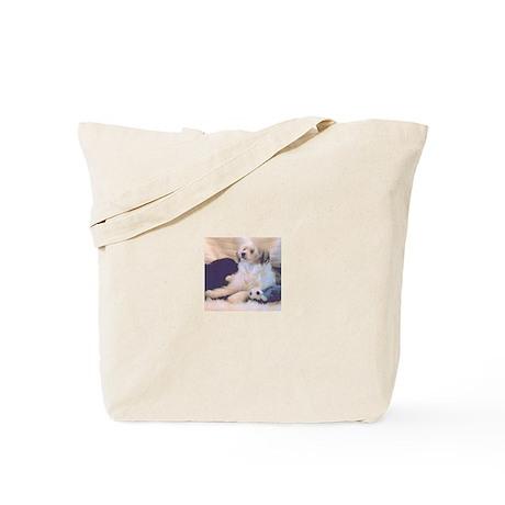 Bandit powder puff tote bag
