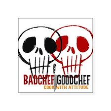 "BadChef GoodChef Logo Square Sticker 3"" x 3"""