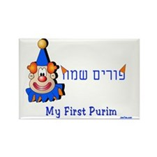 my first purim 7 Rectangle Magnet
