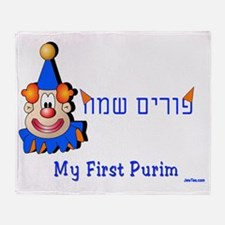 my first purim 7 Throw Blanket