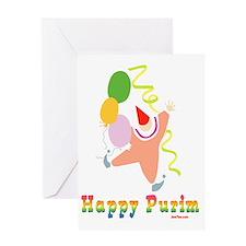 Happy Purim Multi flat Greeting Card