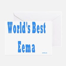 Worlds Best Eeema Greeting Card