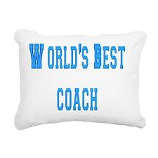worlds best coach Rectangular Canvas Pillow