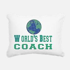 worlds best coach 3 flat Rectangular Canvas Pillow