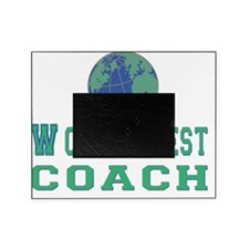 worlds best coach 3 flat Picture Frame