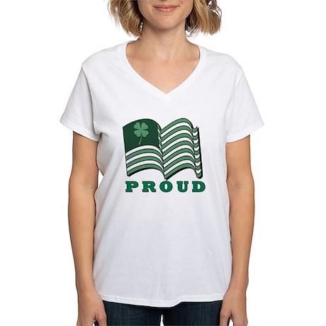 PROUD IRISHflat Women's V-Neck T-Shirt