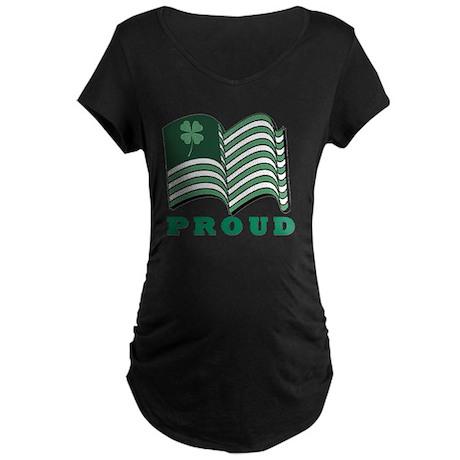 PROUD IRISHflat Maternity Dark T-Shirt