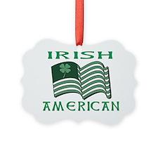 IRISH AMERICAN FLAT Ornament