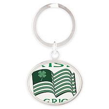 IRISH AMERICAN FLAT Oval Keychain