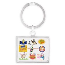 Purim collage Landscape Keychain