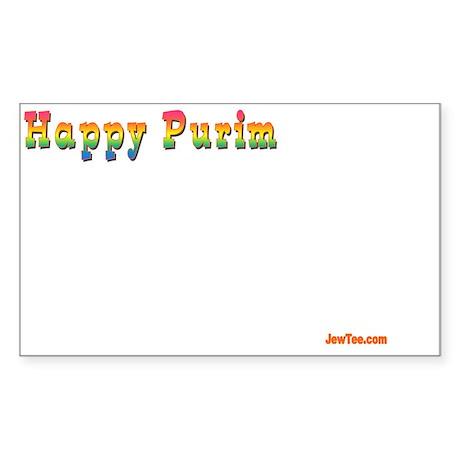 Happy Purim insert 3 Sticker (Rectangle)