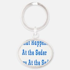 what happens at seder Oval Keychain