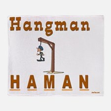 HAngman Haman 4 flat Throw Blanket