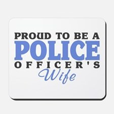 Proud Police Wife Mousepad