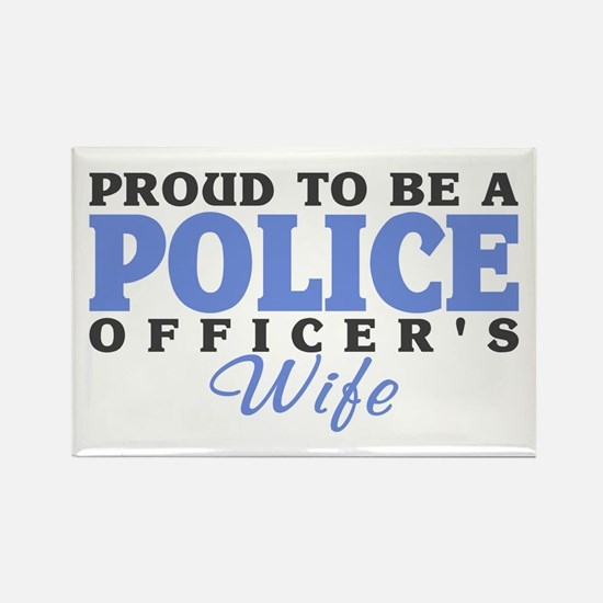 Proud Police Wife Rectangle Magnet