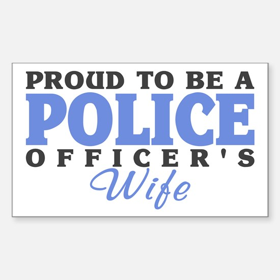 Proud Police Wife Rectangle Decal