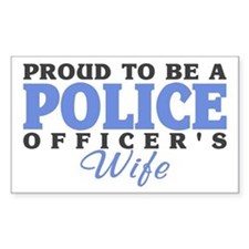 Proud Police Wife Rectangle Stickers