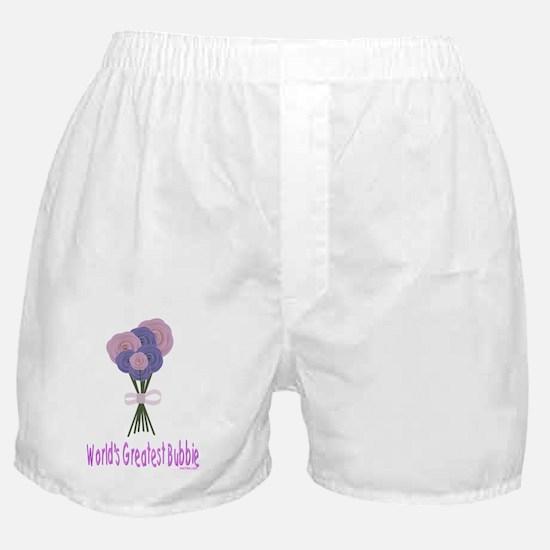 Worlds Greatest Bubbie flat Boxer Shorts