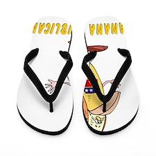 Banana Republican 2 flat Flip Flops