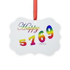 Happy 5769 flat Ornament