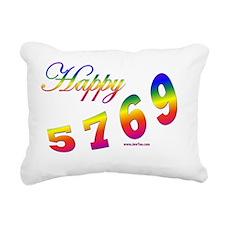 Happy 5769 flat Rectangular Canvas Pillow