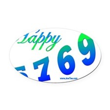 HAppy 5769 Oval Car Magnet