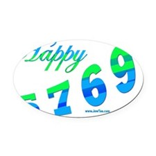 HAppy 5769 flat3 Oval Car Magnet