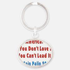 Love America Oval Keychain