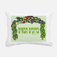 Welcome Sukkah Rectangular Canvas Pillow