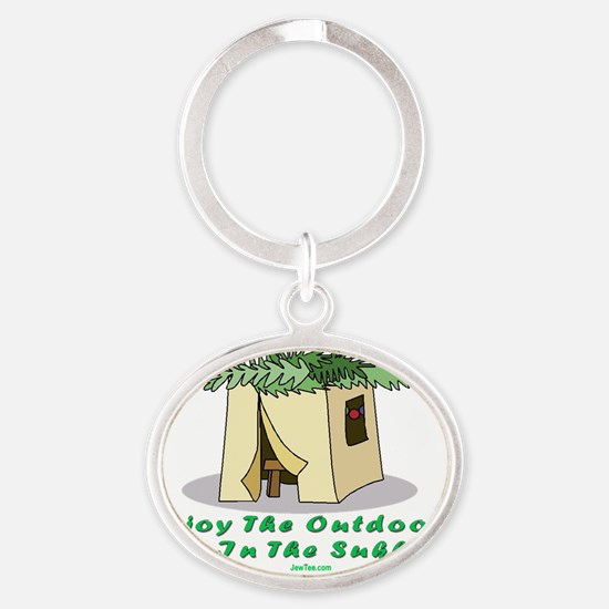 Enjoy the Outdoors flat Oval Keychain