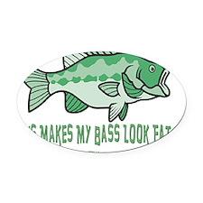 Fat Bass flat Oval Car Magnet
