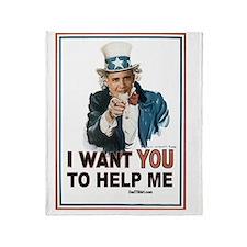 2-I Want You 10 flat Throw Blanket