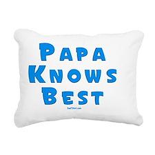 Papa Knows Best flat Rectangular Canvas Pillow