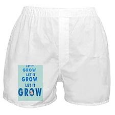 2-lET iT gROW 2 BKGD Boxer Shorts