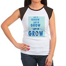 2-lET iT gROW 2 BKGD Women's Cap Sleeve T-Shirt