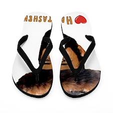 I Love Hamentashen flat Flip Flops