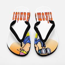 2-Afikoman Hunter flat Flip Flops
