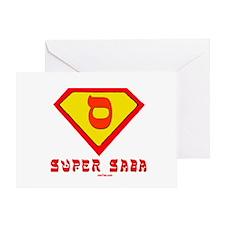 Super Saba flat Greeting Card