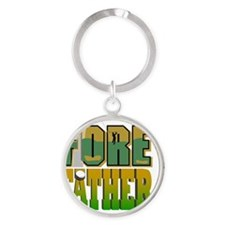 2-FOre Father flat Round Keychain
