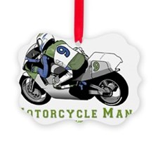 2-Motorcycle Manflat Ornament