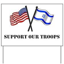 American Israeli Flags 3 Yard Sign