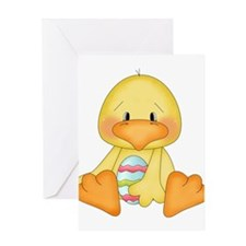 Duck with easter egg Greeting Card