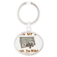Bank Of Dad Top 1 Oval Keychain