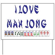 i love mah jong Yard Sign