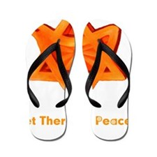 3-Let There Be Peace flat Flip Flops
