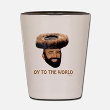 Oy To The World flat Shot Glass