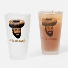 Oy To The World flat Drinking Glass